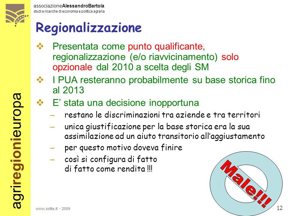 Male!!! Regionalizzazione