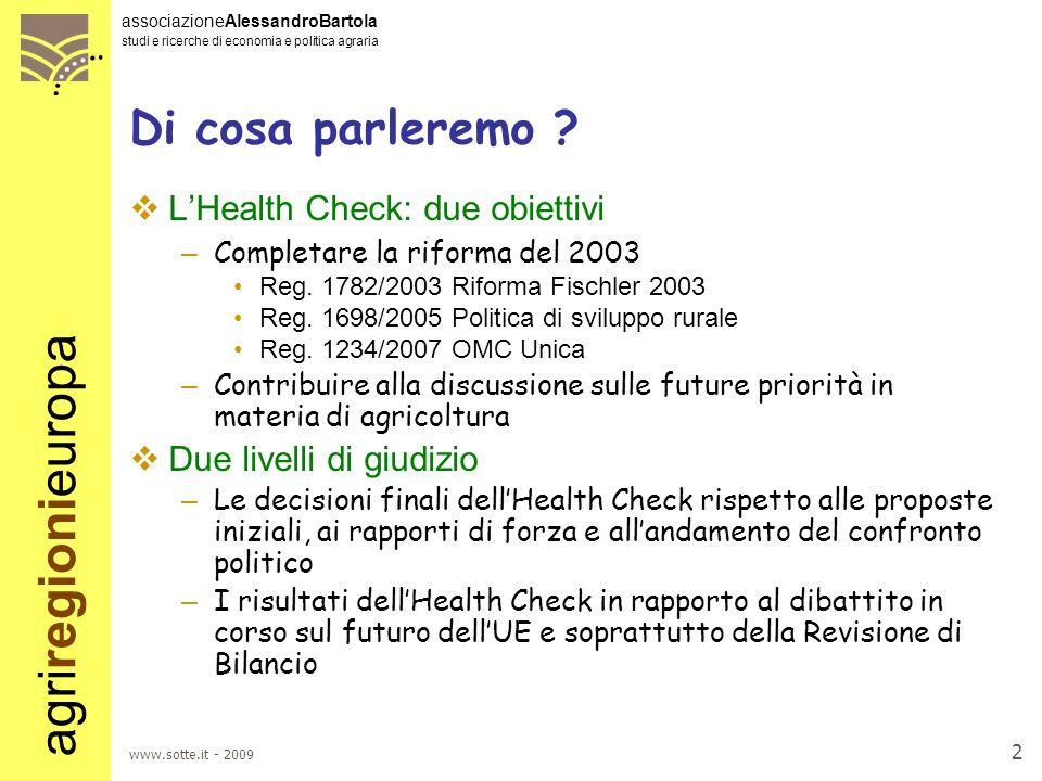 Di cosa parleremo L'Health Check: due obiettivi