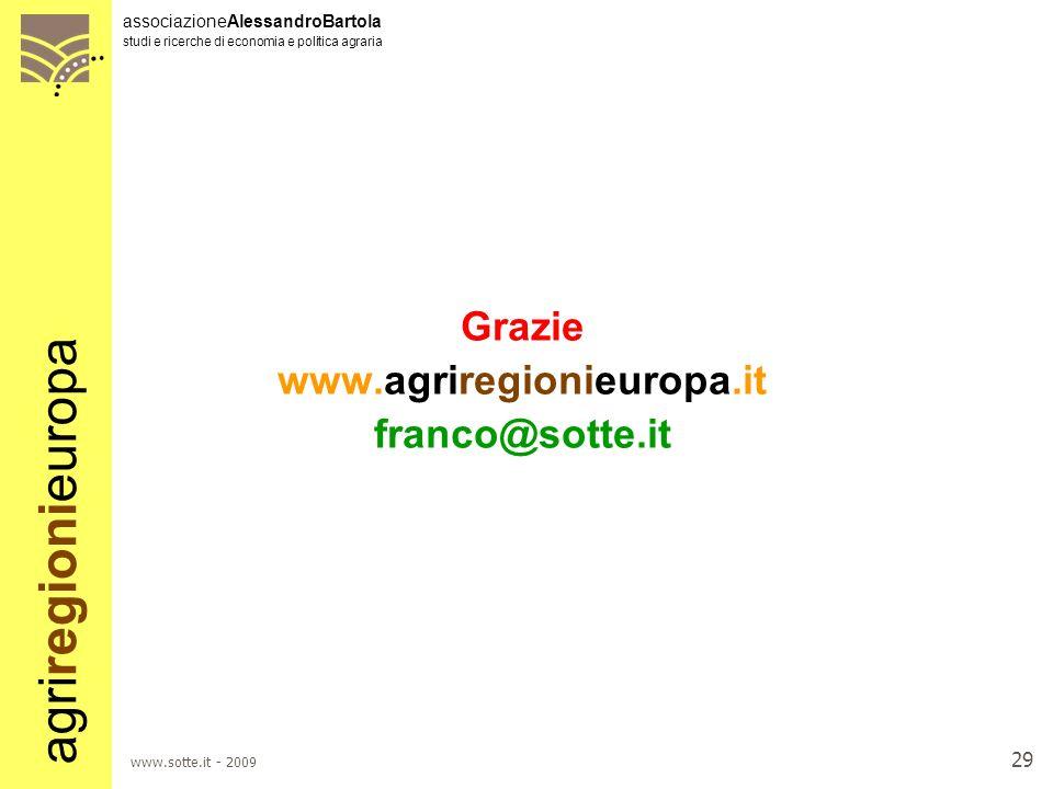 Grazie www.agriregionieuropa.it franco@sotte.it