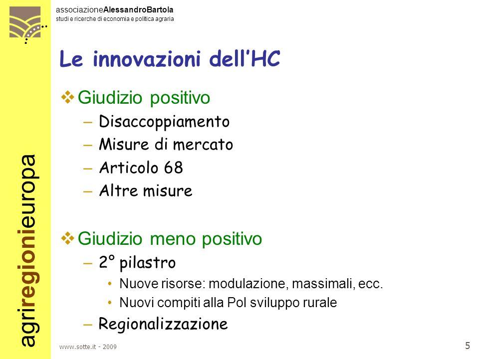Le innovazioni dell'HC