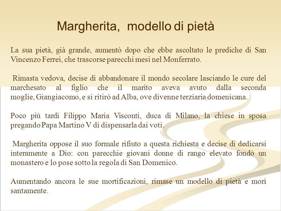 Margherita, modello di pietà