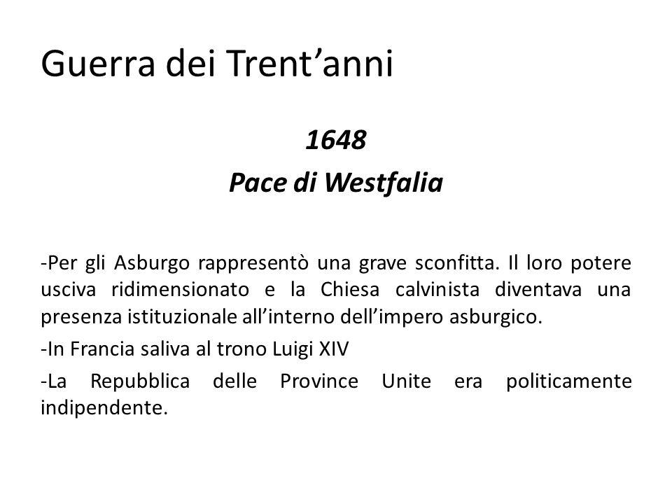 Guerra dei Trent'anni 1648 Pace di Westfalia