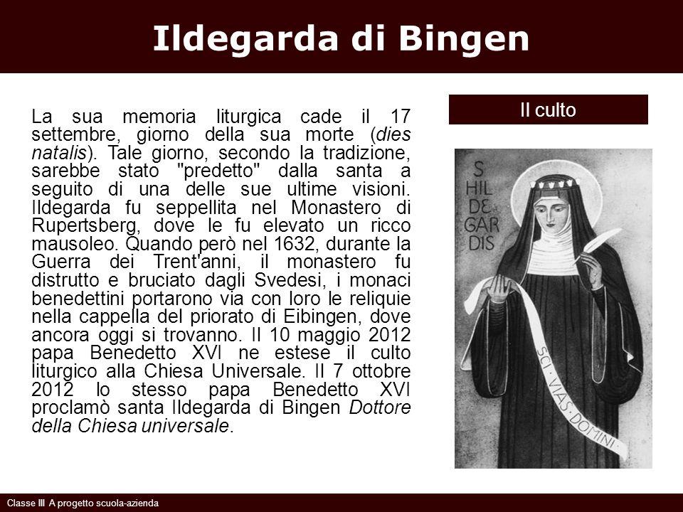 Ildegarda di Bingen Il culto