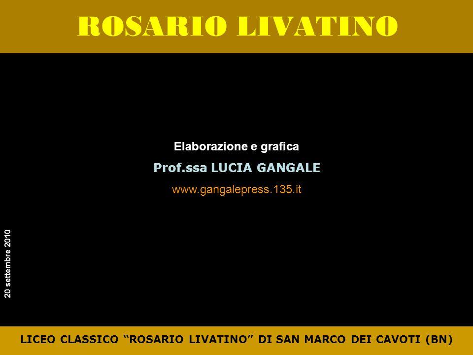 LICEO CLASSICO ROSARIO LIVATINO DI SAN MARCO DEI CAVOTI (BN)