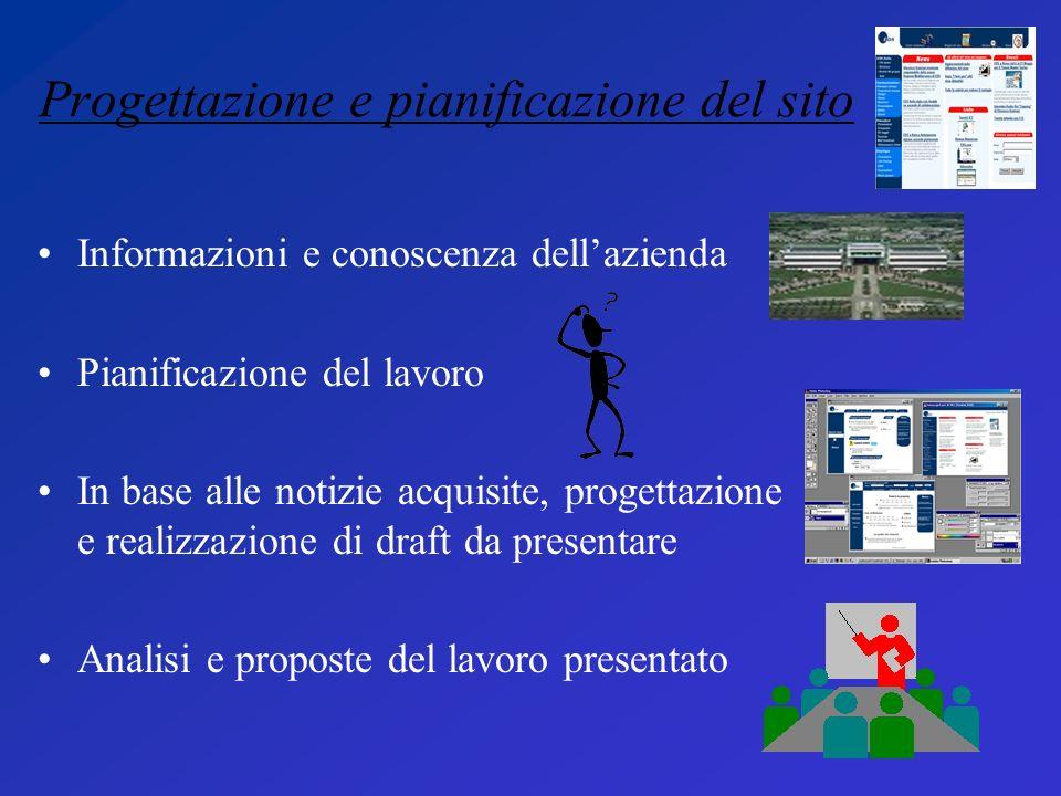 Progettazione e pianificazione del sito