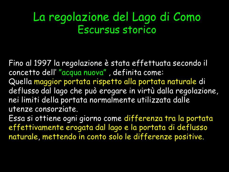 La regolazione del Lago di Como
