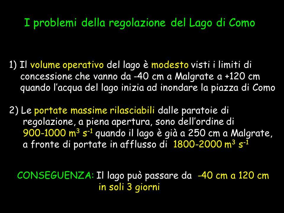 I problemi della regolazione del Lago di Como