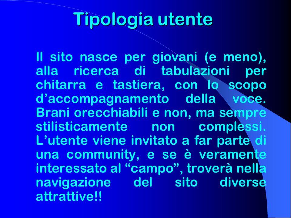 Tipologia utente