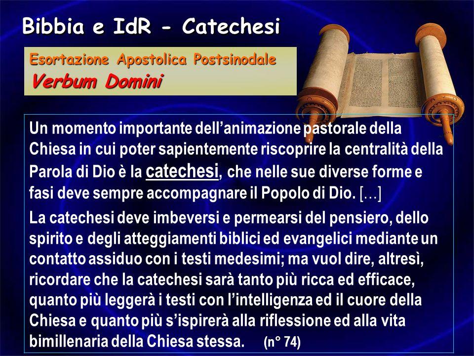 Bibbia e IdR - Catechesi