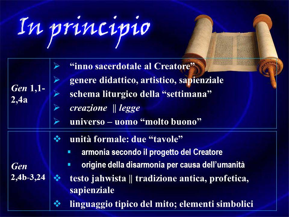 inno sacerdotale al Creatore