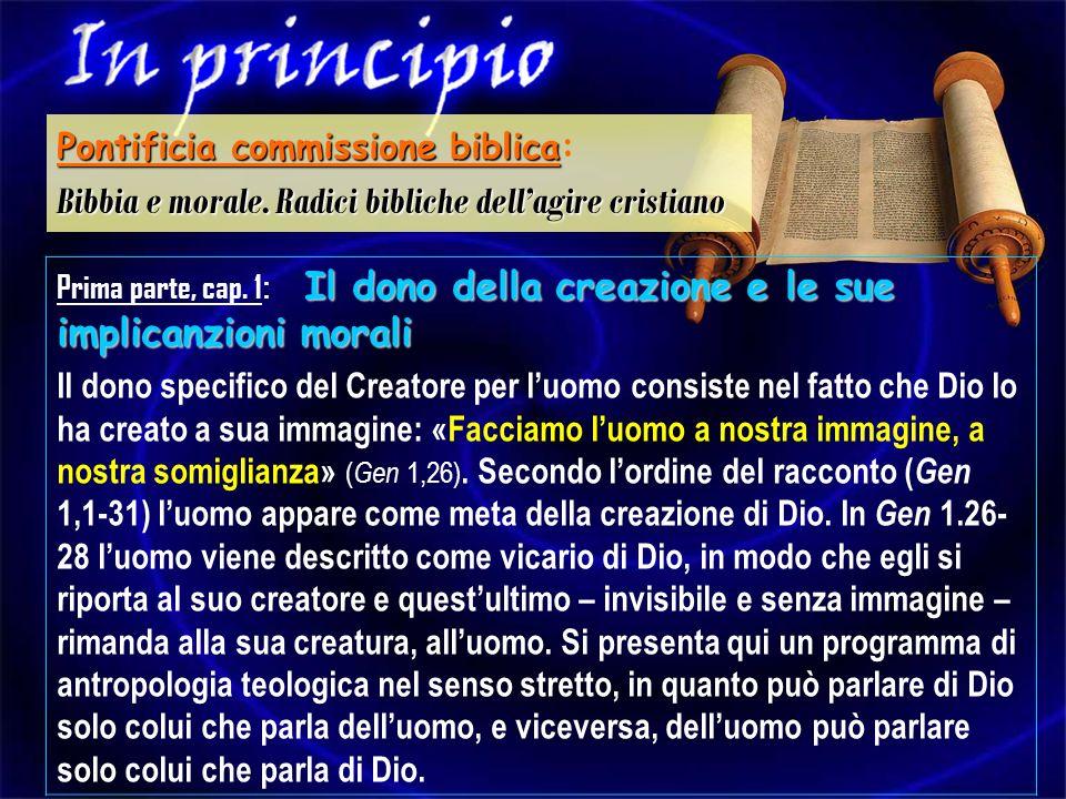 Pontificia commissione biblica: Bibbia e morale