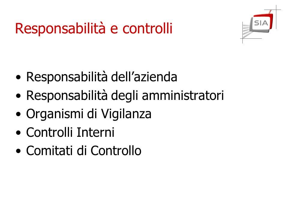 Responsabilità e controlli