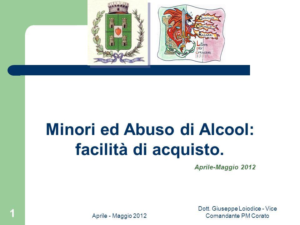 Minori ed Abuso di Alcool: facilità di acquisto.