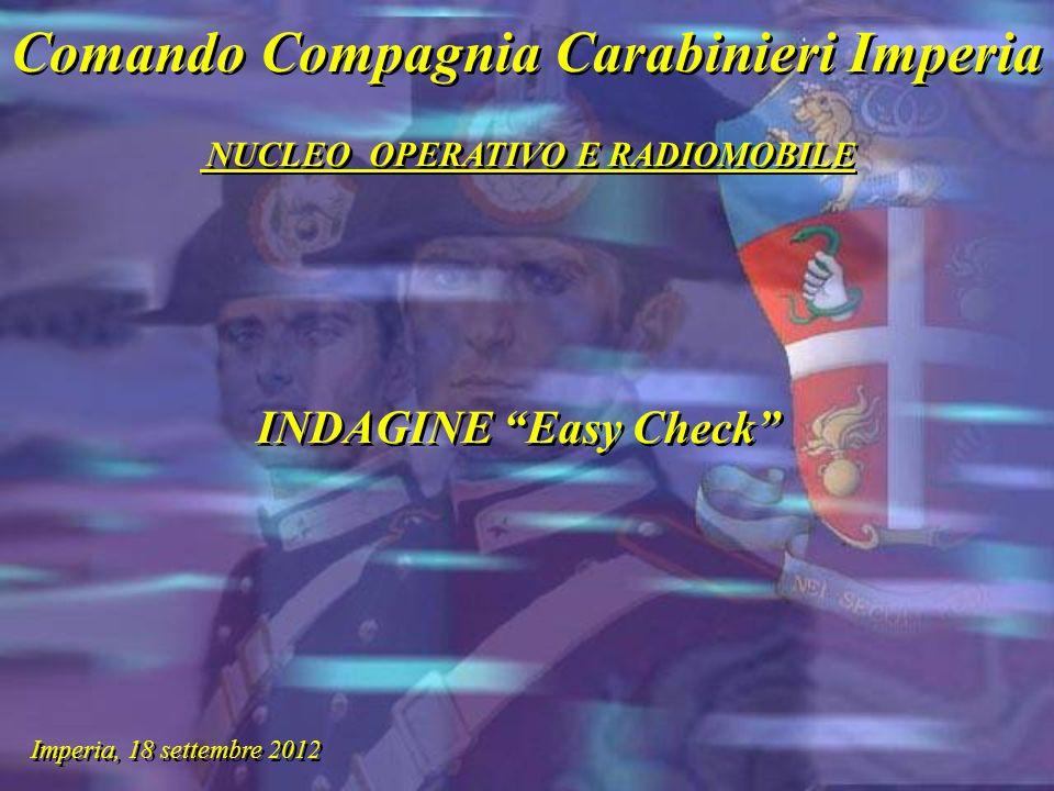 Comando Compagnia Carabinieri Imperia NUCLEO OPERATIVO E RADIOMOBILE