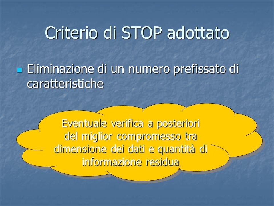 Criterio di STOP adottato