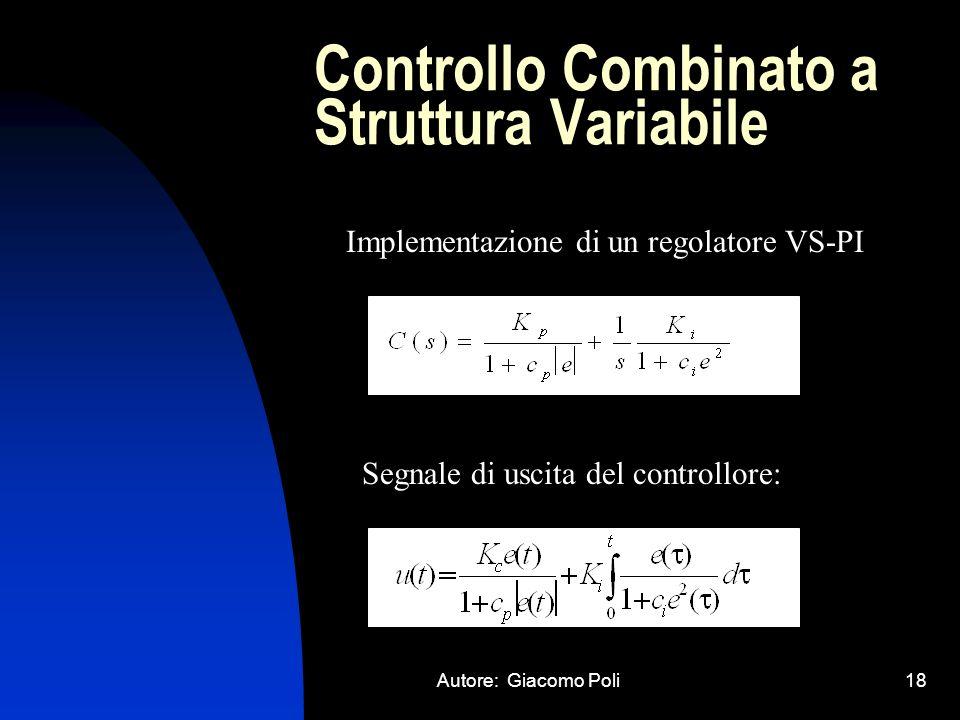 Controllo Combinato a Struttura Variabile