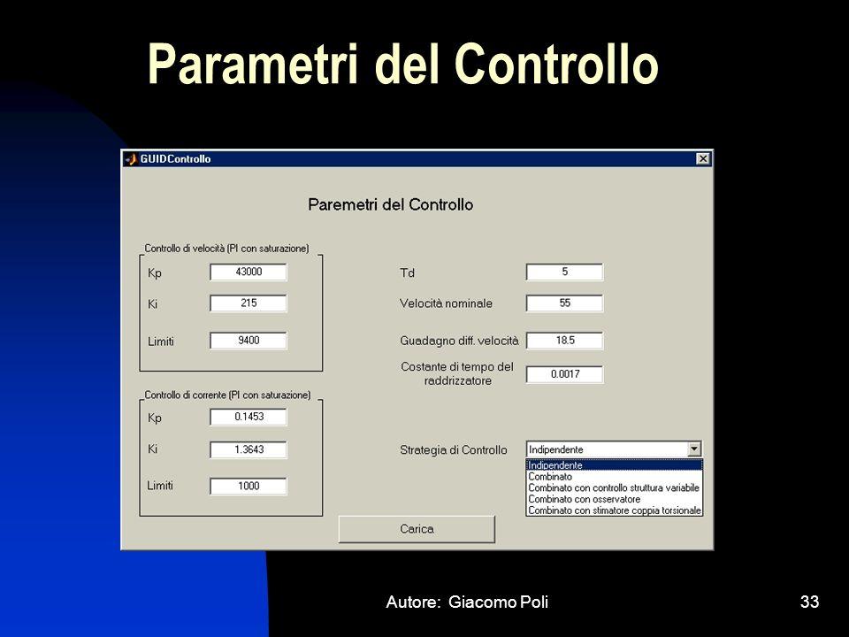 Parametri del Controllo