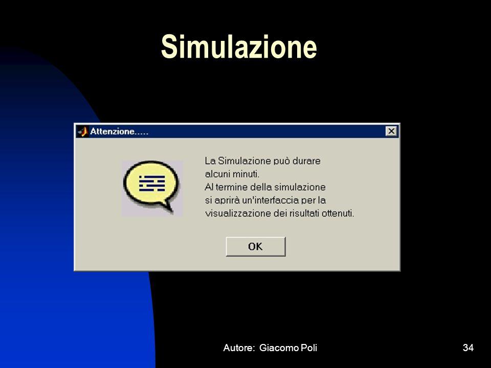 Simulazione Autore: Giacomo Poli