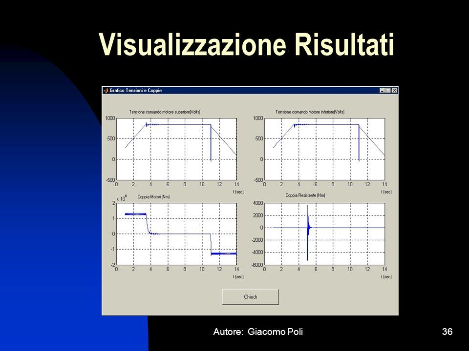 Visualizzazione Risultati