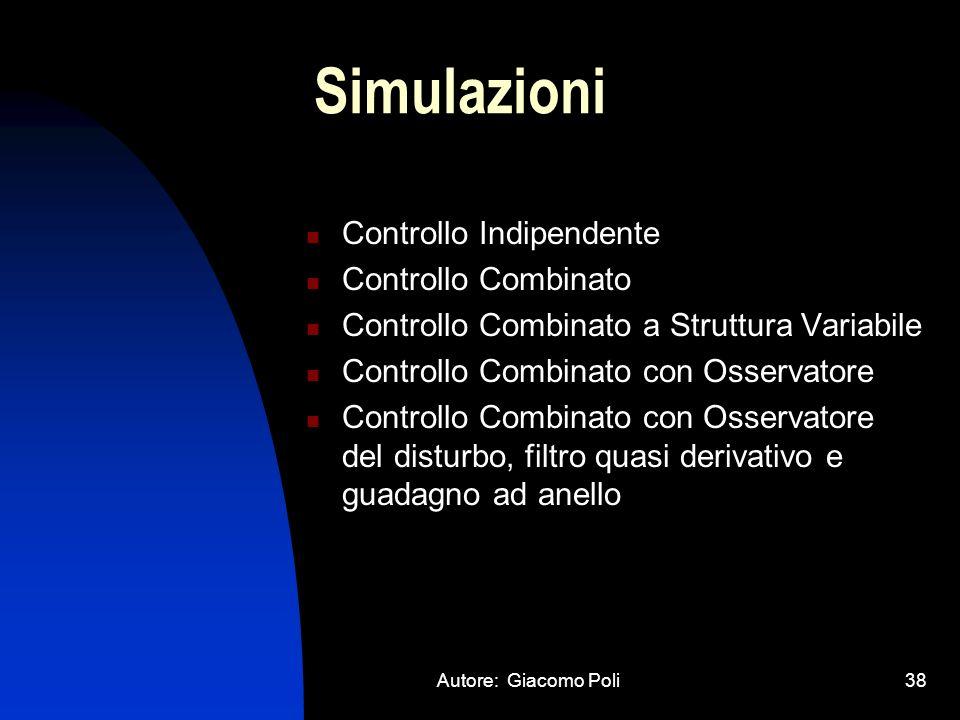Simulazioni Controllo Indipendente Controllo Combinato