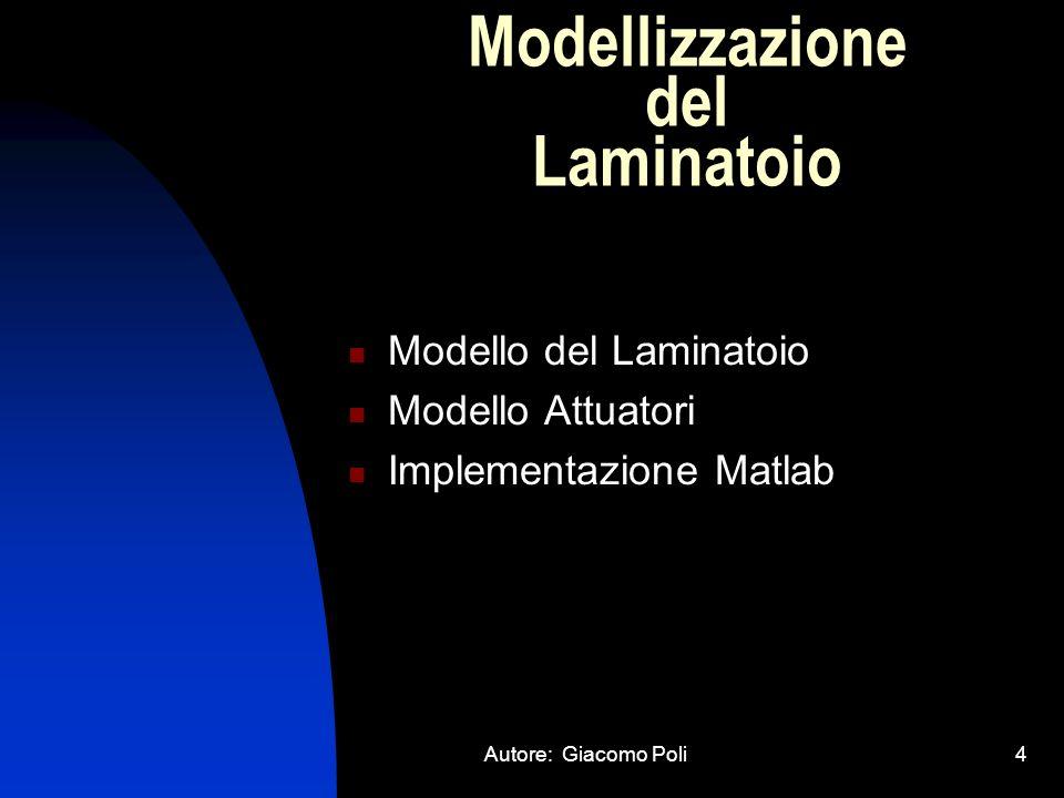 Modellizzazione del Laminatoio