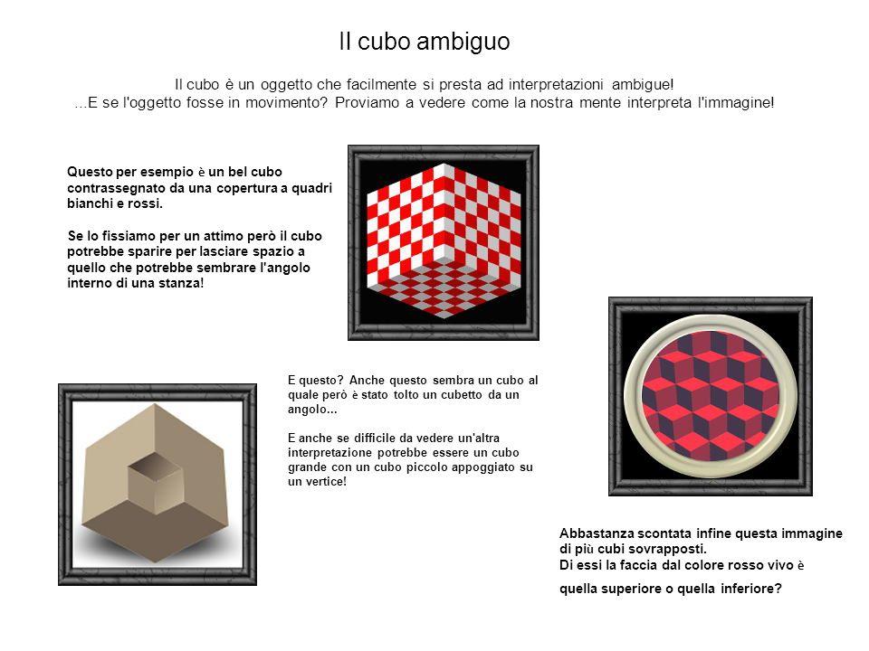 Il cubo ambiguo Il cubo è un oggetto che facilmente si presta ad interpretazioni ambigue!