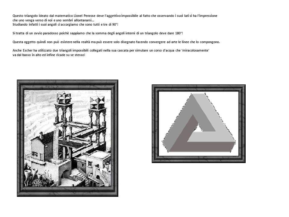 Questo triangolo ideato dal matematico Lionel Penrose deve l aggettivo impossibile al fatto che osservando i suoi lati si ha l impressione