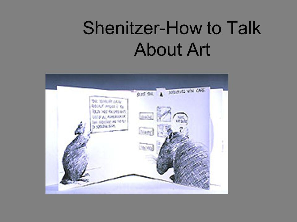 Shenitzer-How to Talk About Art