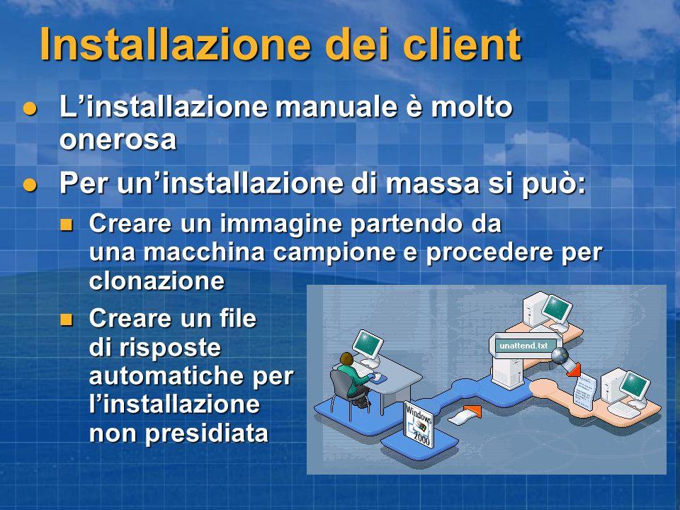 Installazione dei client