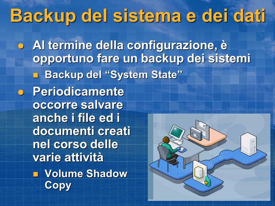 Backup del sistema e dei dati