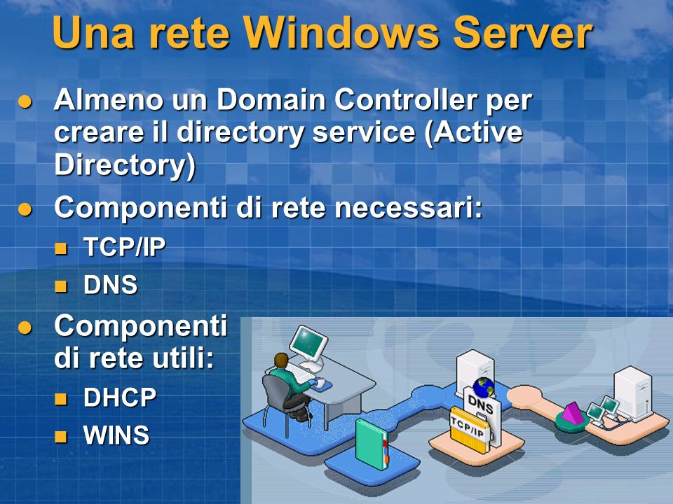 Una rete Windows Server