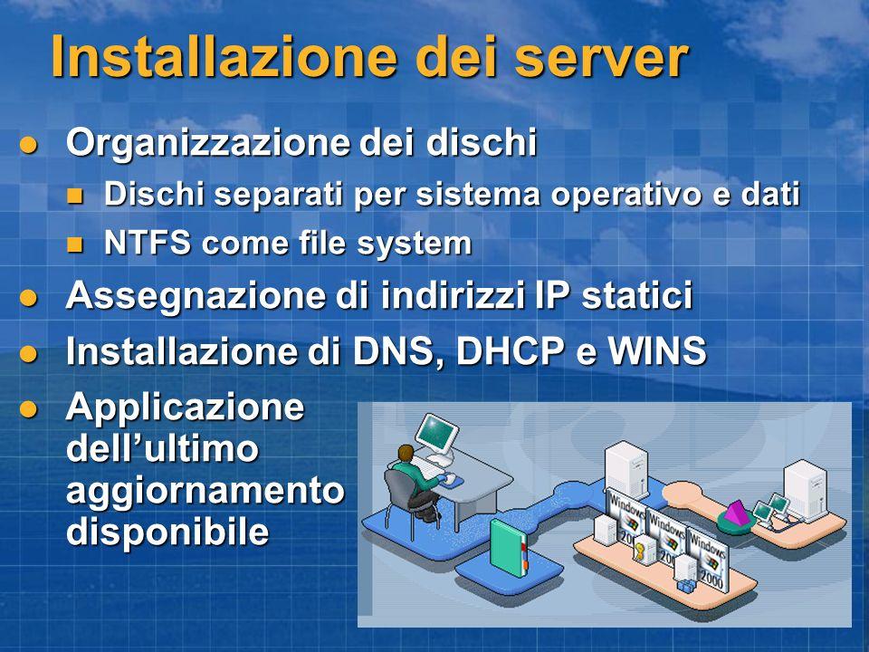 Installazione dei server