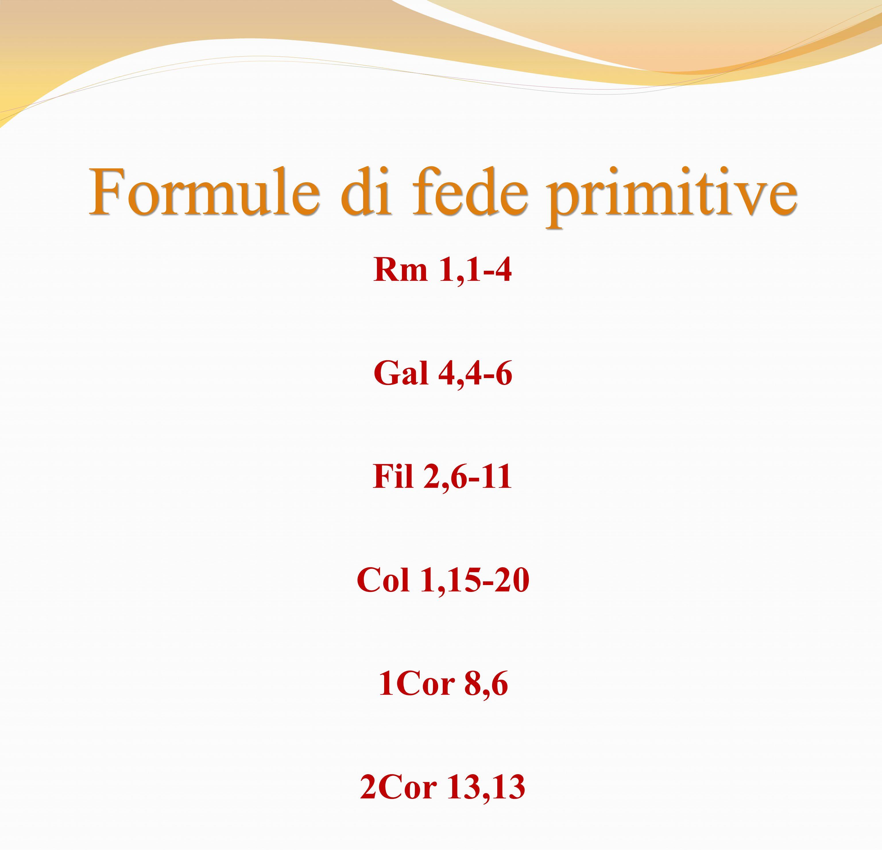 Formule di fede primitive