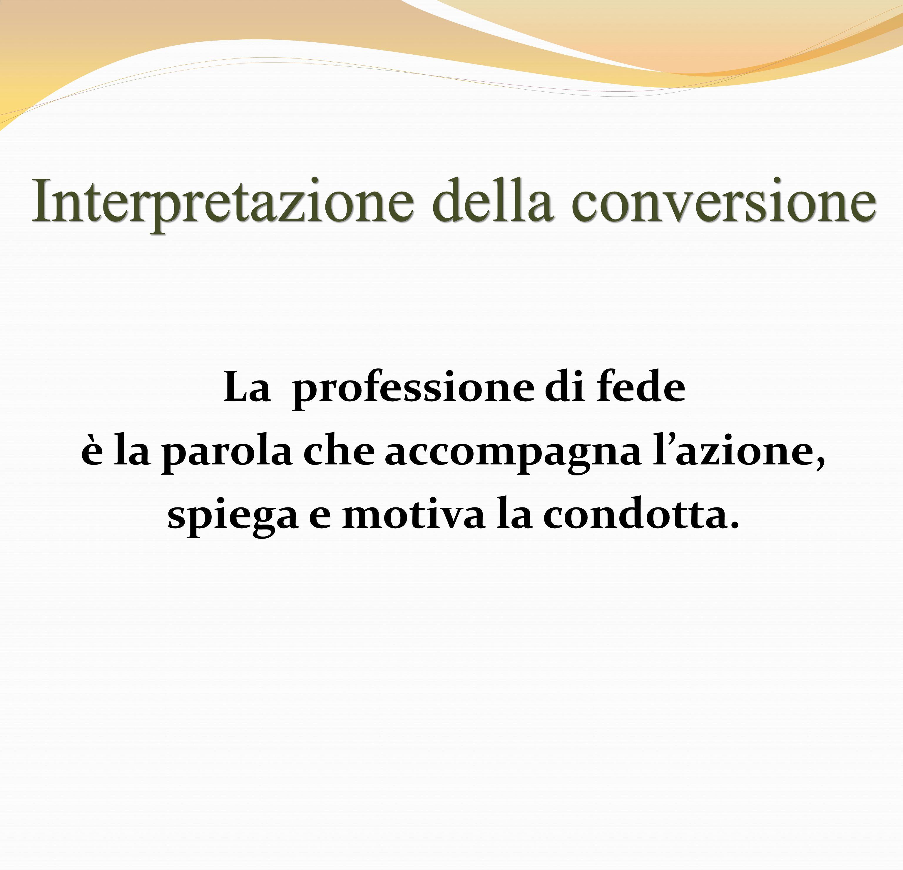 Interpretazione della conversione