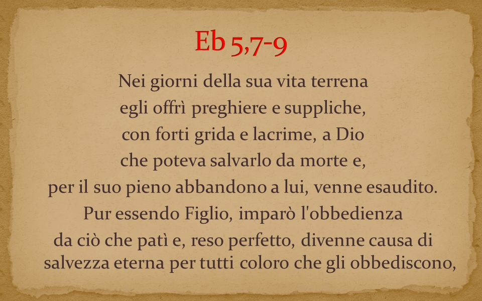 Eb 5,7-9
