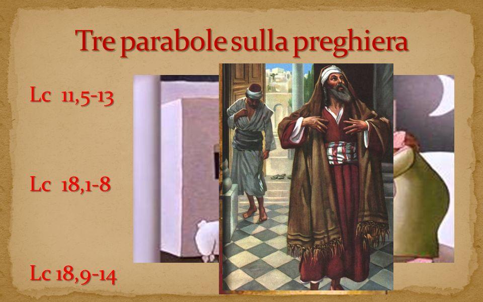 Tre parabole sulla preghiera