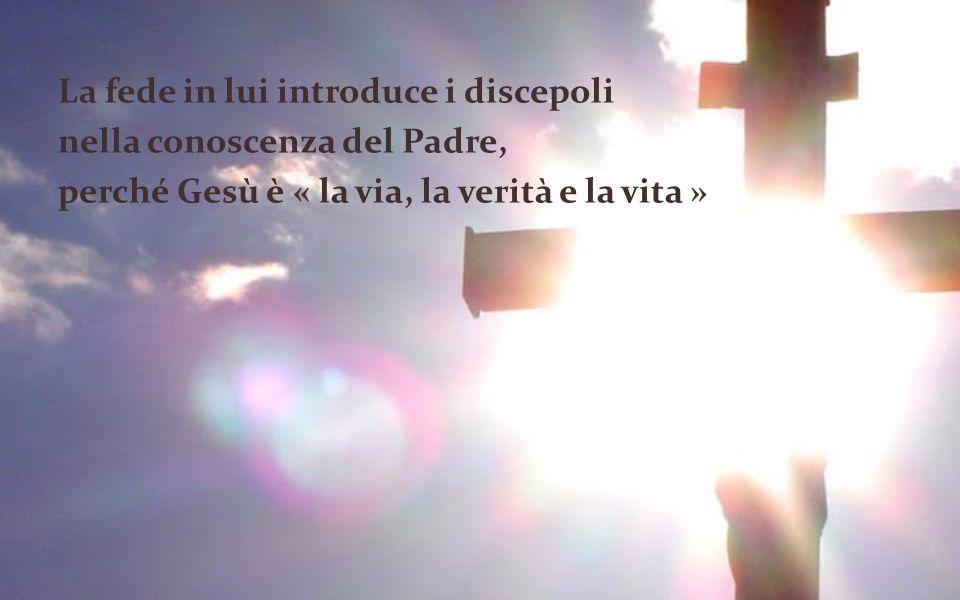 La fede in lui introduce i discepoli nella conoscenza del Padre, perché Gesù è « la via, la verità e la vita »