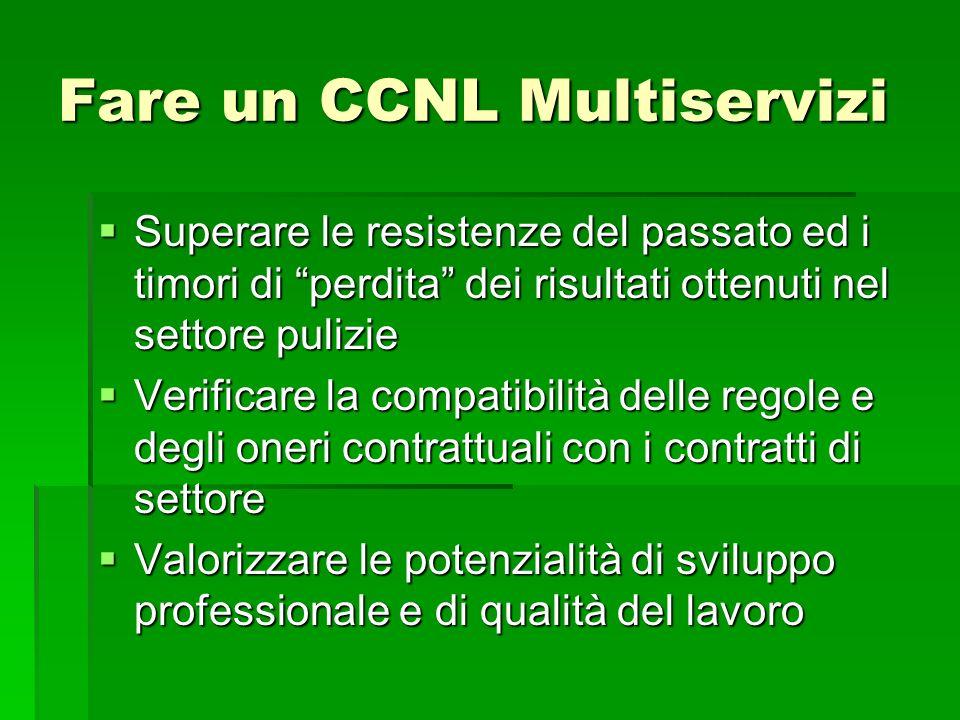 Fare un CCNL Multiservizi