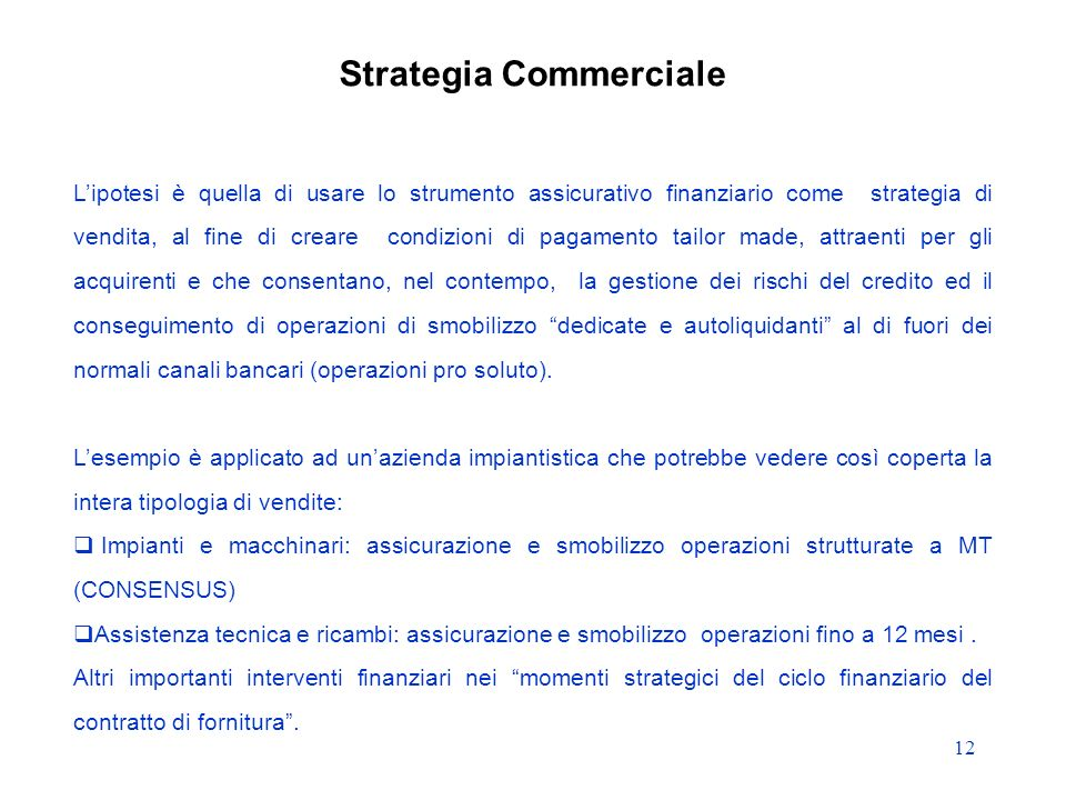Strategia Commerciale