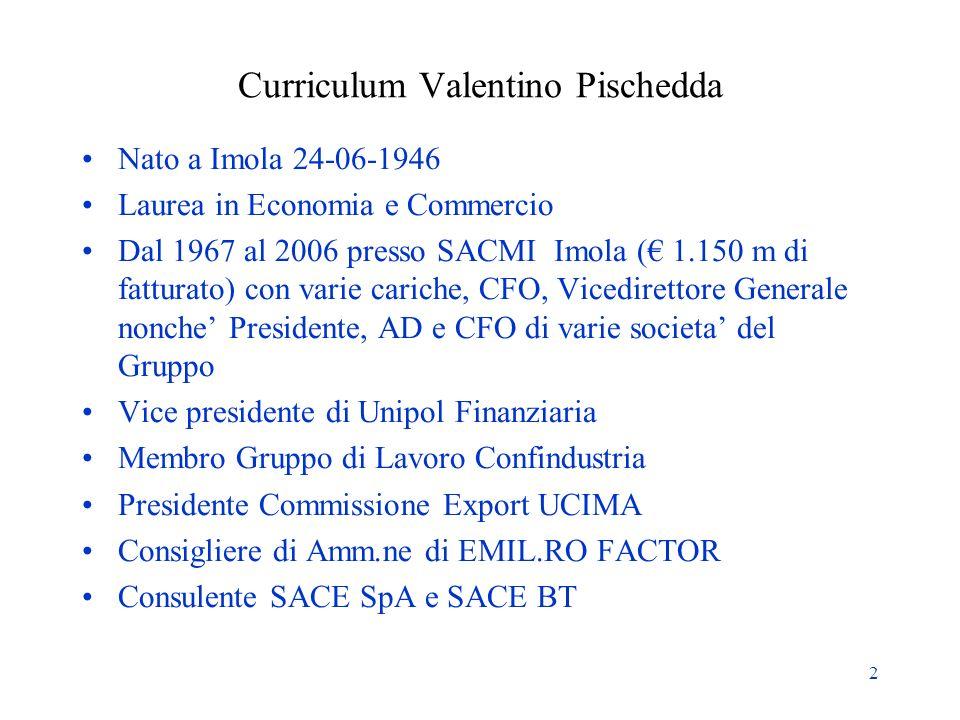 Curriculum Valentino Pischedda