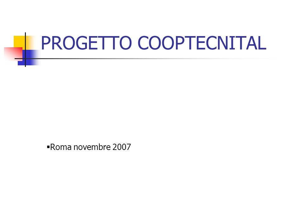 PROGETTO COOPTECNITAL
