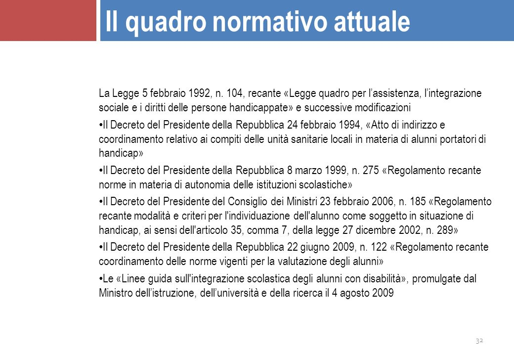 Bes il quadro culturale e giuridico ppt scaricare for Decreto presidente della repubblica