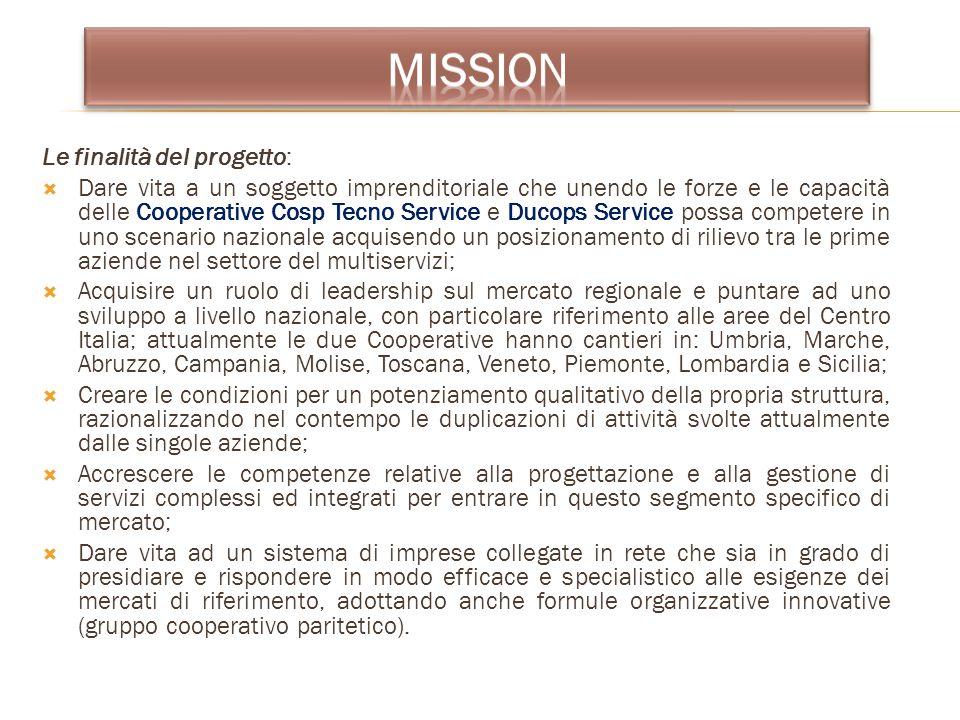 mission Le finalità del progetto: