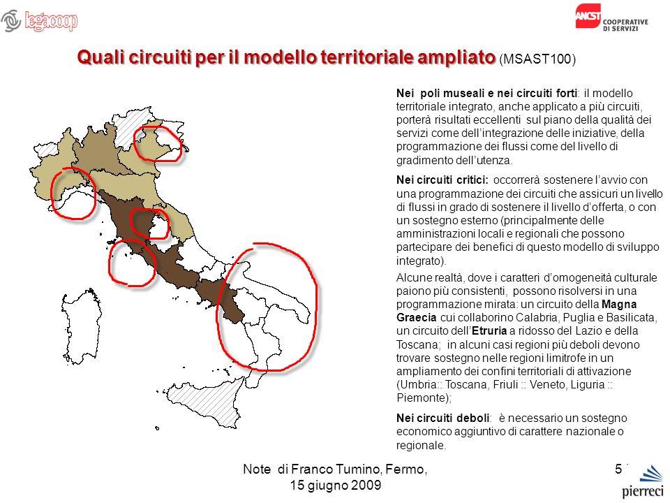 Quali circuiti per il modello territoriale ampliato (MSAST100)
