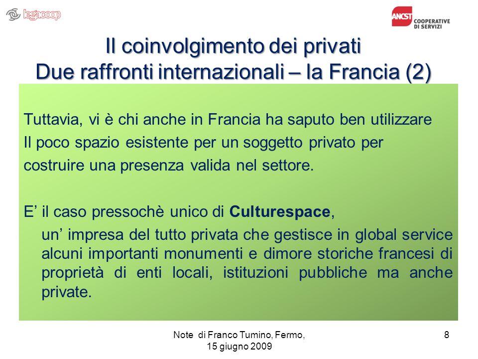 Note di Franco Tumino, Fermo, 15 giugno 2009