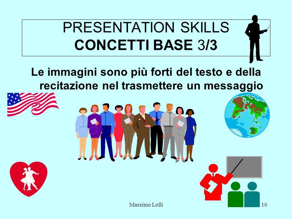 PRESENTATION SKILLS CONCETTI BASE 3/3