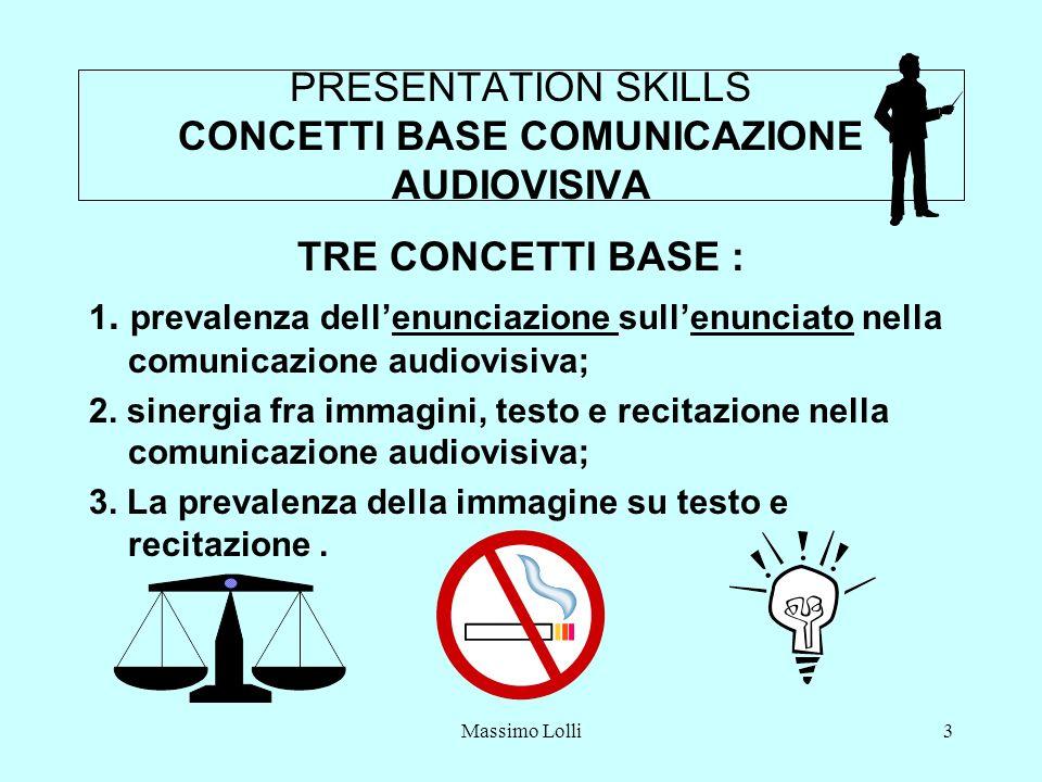 PRESENTATION SKILLS CONCETTI BASE COMUNICAZIONE AUDIOVISIVA