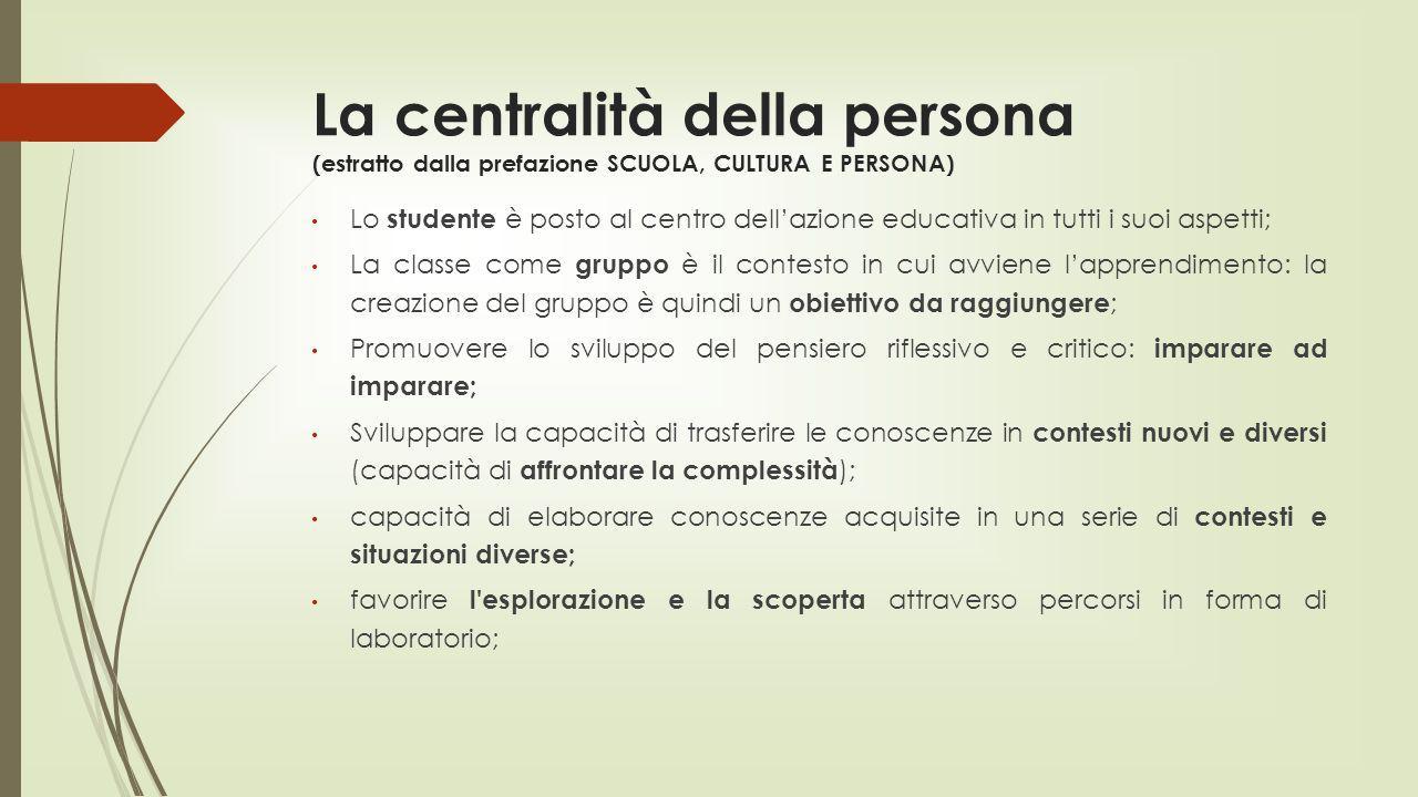 La centralità della persona (estratto dalla prefazione SCUOLA, CULTURA E PERSONA)