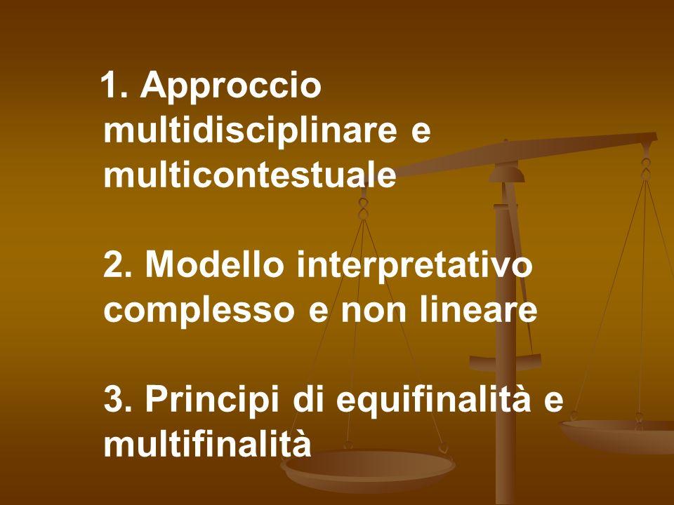 1. Approccio multidisciplinare e multicontestuale 2