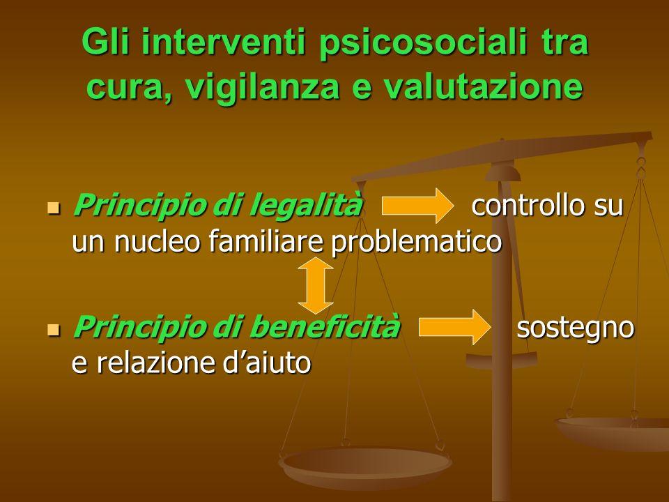 Gli interventi psicosociali tra cura, vigilanza e valutazione